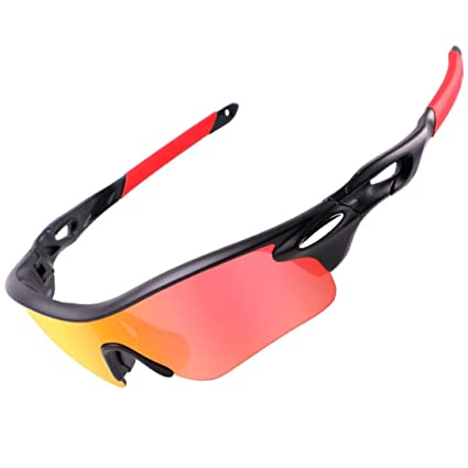 1b47132dfd Feccile S-ports   Fit-ness Womens Mens Anti-UV Sunglasses Safety Goggles