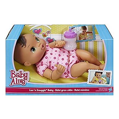 Baby Alive Luv 'n Snuggle Baby Brunette: Toys & Games