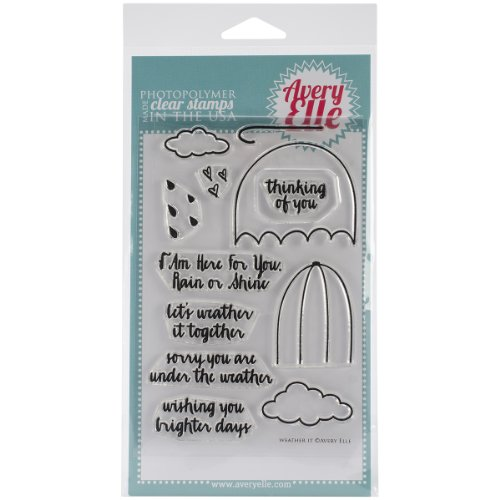 Avery Elle Stamp Set, 4-Inch by 6-Inch, Weather it, Clear