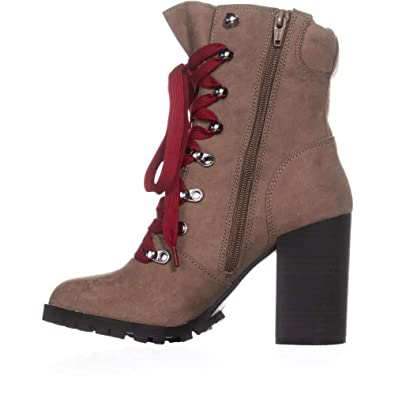 8ee6a817cb Amazon.com | Material Girl Womens Hazil Solid Faux Suede Booties ...