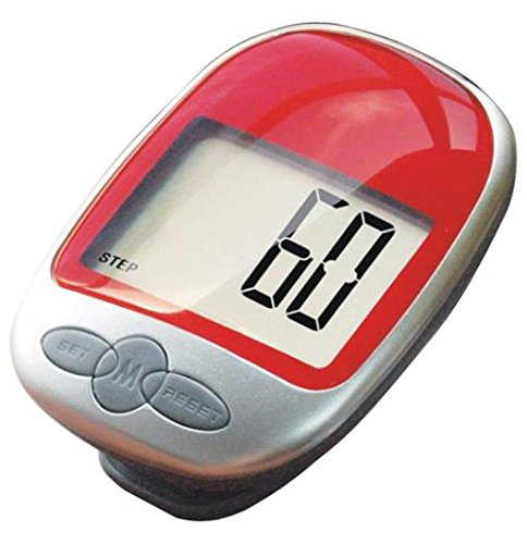 FranterdWaterproof LCD Running Walking distance Step Pedometer Calorie Counter (Red)