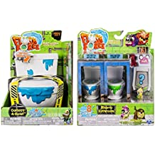 Flush Force Series 1 Collect-A-Bowl Stash 'n' Store Case for 4 Exclusive Flushie Figures, and Bizarre Bathroom Collectible (Color/Styles May Vary) Including Blizy keychain.