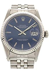 Rolex Datejust swiss-automatic blue mens Watch 16014 (Certified Pre-owned)
