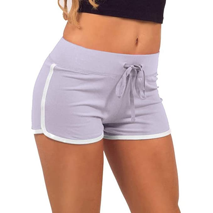 2836c7e34d QinMMROPA Mujer Pantalones Cortos Deportivo