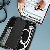 ProCase Estuche Goma EVA para Estetoscopio, Caja Foam Antichoques de Viaje para Fonendoscopio 3M Littmann/MDF/Riester/ADC, Almacenamiento con Bolsillo de Malla para Accesorios -Negro: Amazon.es: Electrónica