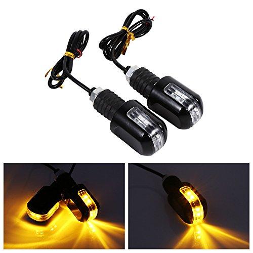 Motorcycle Turn Signals Lights Universal 6 LED Waterproof Turn Signal Indicator 12V Pilot Lamp Indicator Amber Light