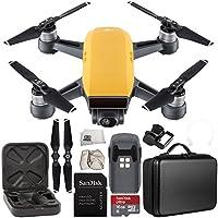 DJI Spark Portable Mini Drone Quadcopter Starter Portable Bag Shoulder Travel Case Bundle (Sunrise Yellow)