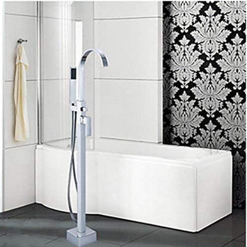 ZY-YY 蛇口現代ファッショントールACRポーランドクローム浴槽の蛇口ABSプラスチックシャワー浴槽フィラーミキサータップフロアマウント、マルチ
