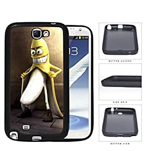 Naughty Banana Adult Humor Rubber Silicone TPU Cell Phone Case Samsung Galaxy Note 2 II N7100