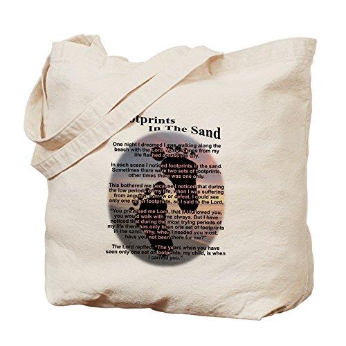 CafePress–Orme nella sabbia–Borsa di tela naturale, panno borsa per la spesa