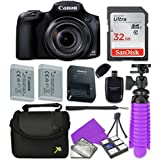 Canon PowerShot SX60 HS Wi-Fi Digital Camera with Sandisk 32 GB SD Memory Card + Extra Battery + Tripod + Case + Card Reader + Cleaning Kit