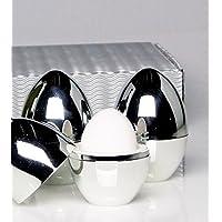 Eierwärmer, Warmhalte-Eierbecher 4er-Set in Geschenkverpackung: Diese Eierbecher halten Frühstückseier warm und sind ein praktischer Hingucker an jedem schön gedeckten Tisch. Produktionsbedingt weisen sie zum Teil leichte Lackfehler auf.