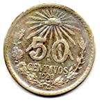 Mexico 1920 Silver 50 Centavos Cap  and