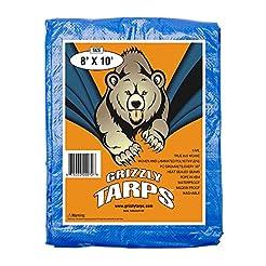 B-Air Grizzly Tarps 8 x 10 Feet Blue Mul...