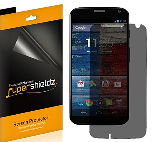 [2 Pack] Supershieldz- Privacy Anti-Spy Screen Protector Shield For Motorola Moto X + Lifetime Replacements Warranty - Retail Packaging