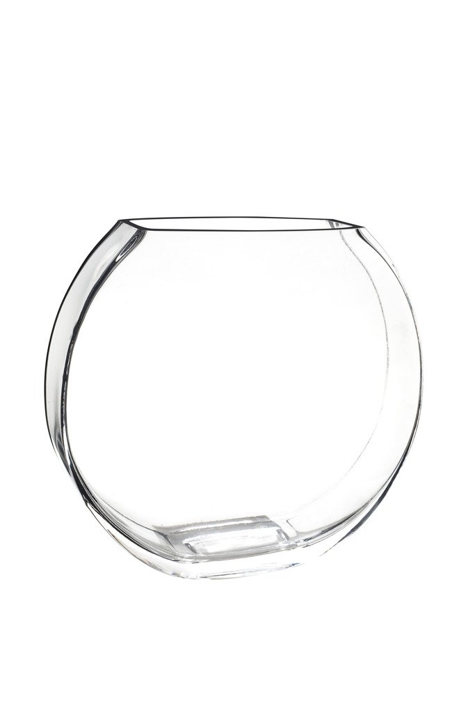 "Royal Imports Flower Glass Vase Decorative Centerpiece for Home or Wedding Flat Fishbowl Shape, 10"" Tall, 6"" Opening - QUALITY: This 10"" flat vase is crafted to classic quality and is made of crystal clear glass to maximize content visibility. Each vase features thick glass walls and weighted base to ensure durability. This vase is made using the highest quality material and will never topple. Imported. BEST SELLER: Original design glass vases, also referred to as flat fish bowls, are best sellers in the floral supply, home décor, and wedding planning industry. From home decorators, to event planners, everyone appreciates a high quality thick glass bowl that has unlimited use possibilities. It will enhance any romantic event when filled with roses, or any party when filled with lights and vase fillers. USES: Glass vases are very popular with fresh flower arrangements as well as silk or dried floral designs. But it is also commonly used as candle holders, storage containers (in modern offices),aquariums or fish tanks, pot-pourri containers, and centerpieces filled with gems or lights - vases, kitchen-dining-room-decor, kitchen-dining-room - 510jS0pnBTL -"