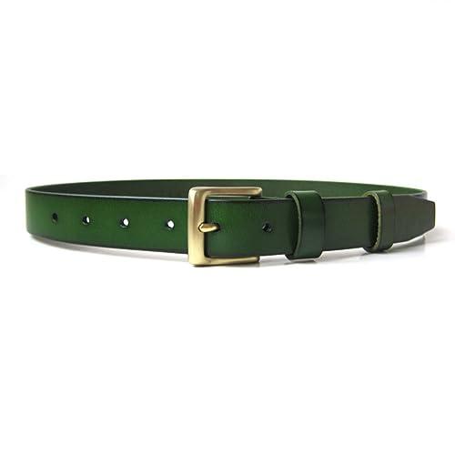 Moda,Fibbia Ottone Pianura,Cintura Con Cintura Jeans Cinture Donna-C 95cm(37inch)