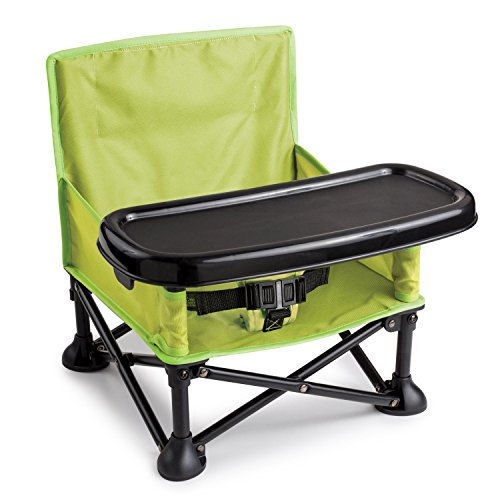 (Summer Infant Pop and Sit Portable Booster, Green/Grey)