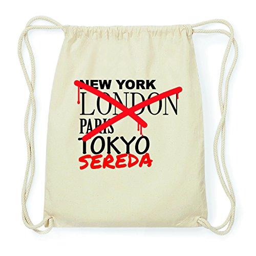 JOllify SEREDA Hipster Turnbeutel Tasche Rucksack aus Baumwolle - Farbe: natur Design: Grafitti