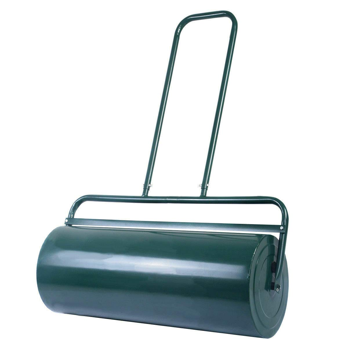 FDInspiration Green Galvanized Steel 24'' x 13'' Water Sand Filled Poly Push Tow Lawn Roller with Ebook by FDInspiration
