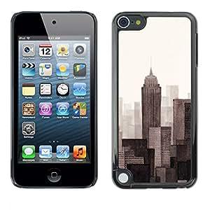 PC/Aluminum Funda Carcasa protectora para Apple iPod Touch 5 Monotone Gray Beige Art Painted / JUSTGO PHONE PROTECTOR