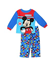 Disney Toddler Boys' Mickey Mouse 2-Piece Fleece Pajama Set