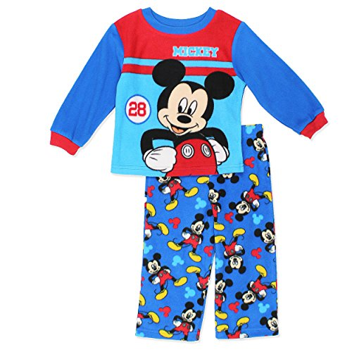 Mickey Mouse Boys Fleece Pajamas (3T, (Mickey Mouse Pajamas)