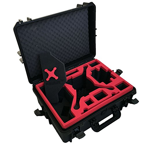 Professional Carrying Case from MC-Cases fits for DJI Phantom 4 pro and professional plus with attached propellers and space for 6 batteries by mc-cases (Image #3)