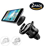 #7: (2 Pack) Car Mount for Pop Socket Users, J2CC 360° Rotation Car Phone Holder for Pop Socket With Stick and Clip Mounting For Expanding Standing and Grip