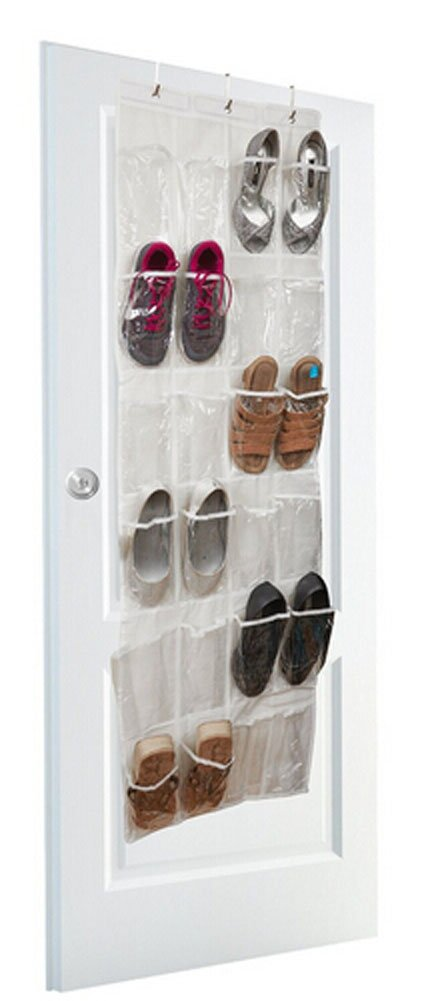 faithtur plástico Crystal Collection sobre la puerta zapatero para 24 pares
