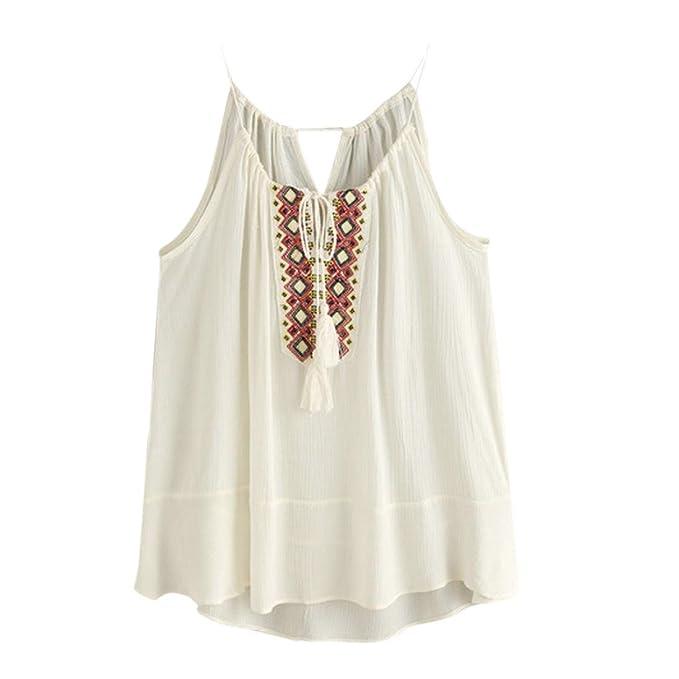 Landons Floqueada lazo bordado blusa blusas camiseta (XL)