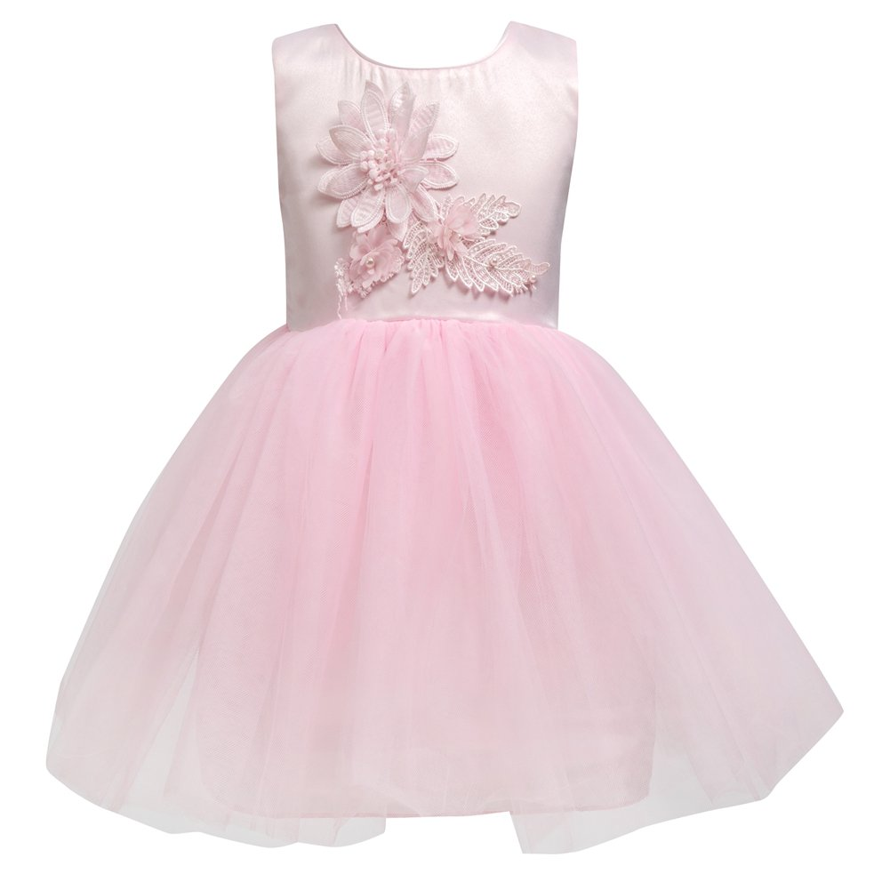 Merry Day Flower Girl Party Dress Kids Toddler Tulle Pageant Bowknot Wedding Dresses 0-10 T KP-FLGR42-US