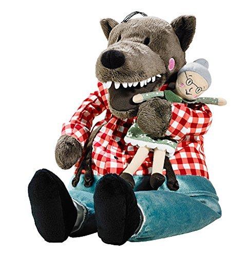 (IKEA 002.475.77 LUFSIG Soft Plush Toy, Wolf)