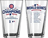 Chicago Cubs 2016 World Series Champions Pint Glass Cup Roster 13161