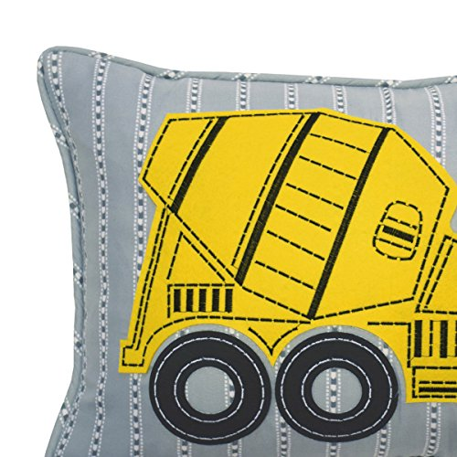 "WAVERLY Kids Under Construction Oblong Embroidered Accessory Pillow, 12"" x 18"", Multicolor"