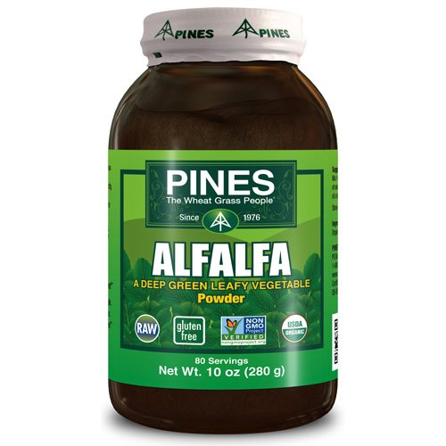 Pines International Alfalfa - Organic - Powder - 10 oz