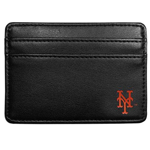 Siskiyou MLB New York Mets Leather Weekend Wallet, Black (Weekend New Leather York)