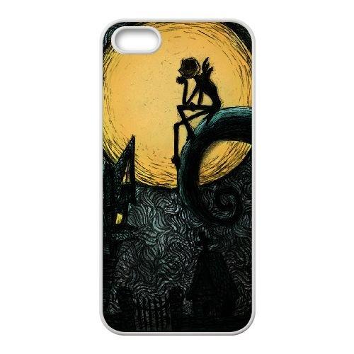 Nightmare Before Christmas 006 coque iPhone 4 4S Housse Blanc téléphone portable couverture de cas coque EOKXLKNBC20451