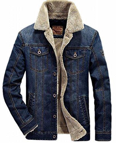 Di uk pelliccia Anteriore Foderata Jeans Degli Inverno Tasto Oggi Uomini Eco Giacca Addensare 1 Di Caldo Cappotto Rw7qndxU