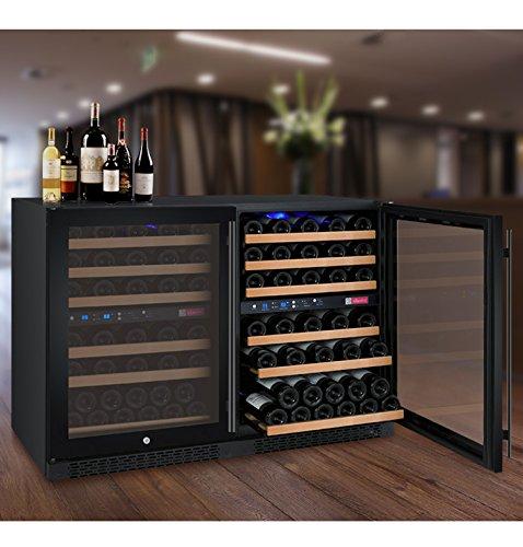 Allavino FlexCount 2X-VSWR56-1BWT 112 Bottle Dual Zone Wine Coolers - Side by Side - Black Doors by Allavino (Image #9)