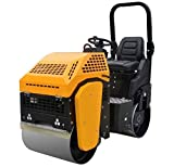 Vibratory Road Roller 2,000 lbs with Honda Engine 13 HP Gas TEQMAC