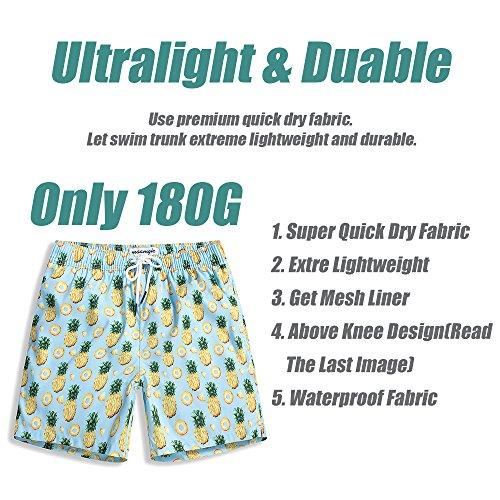 708ee7ae7d MaaMgic Mens Boys Short Swim Trunks Mens Bathing Suits Slim Fit Swim Shorts  Quick Dry Swimsuit