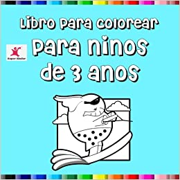Libro Para Colorear Para Niños De 3 Años Spanish Edition