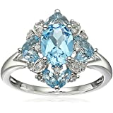 Fashion Women Jewelry Aquamarine 925 sterling silver Wedding Promise Ring (8)