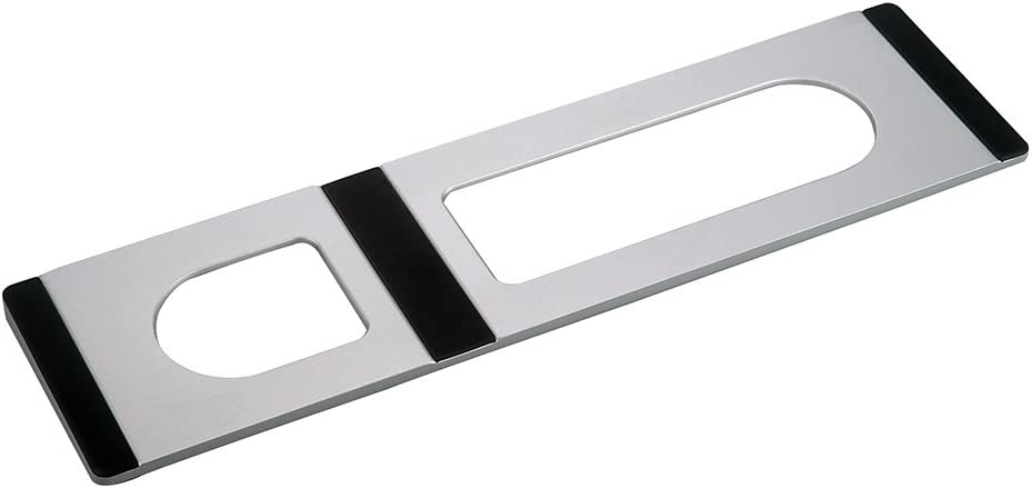 CraftMaster Union Tray for Apple Magic Keyboard and Apple Magic Trackpad 2 - Metal Dock Stand Controls Your iMac or Laptop Remotely, Premium Home and Office Accessory - Silver