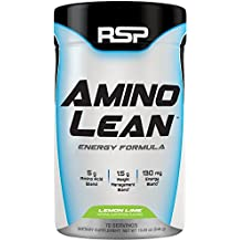 RSP AminoLean - Amino Energy + Fat Burner, Pre Workout, Amino Acids & Weight Loss Powder for Men & Women, Lemon Lime, 70 Servings
