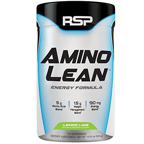 RSP AminoLean - Amino Energy + Fat Burner, Pre Workout, Amino Acids & Weight Loss Powder for Men & Women, Lemon Lime, 70 Servings