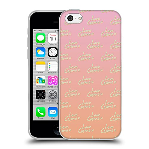 Official Cosmopolitan Love Cosmo Pattern Pastels Soft Gel Case for Apple iPhone 5c