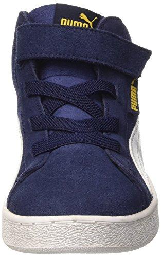 Puma , Jungen Sneaker blau Peacoat/Bianco