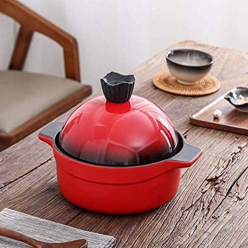 XIAOWEI Casserole en céramique avec Couvercle Entonnoir en grès pour Tous Les Types de plaques 8,7 Pouces Base 3 litres